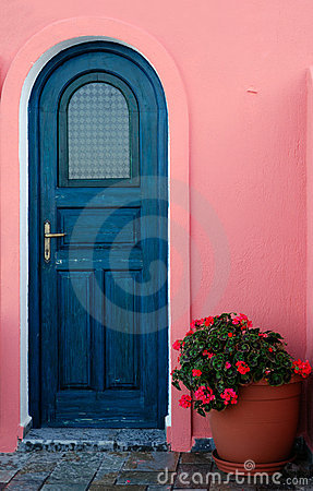 A door on a Greek island