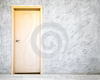 Door in grey room