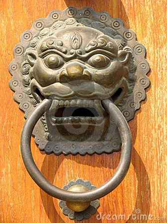 Free Door Handle At Jing An Temple Stock Photography - 637022