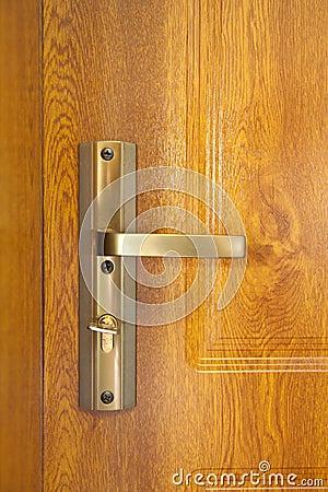 Door handle with copper door knob