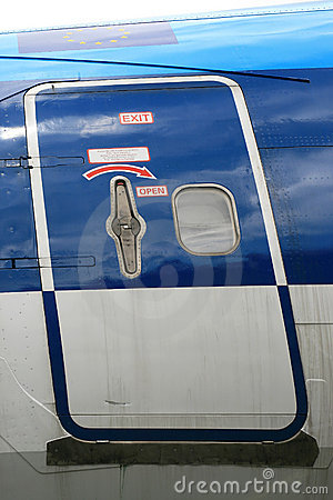 Door (with instructions) of an airplane