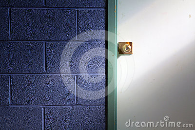 Door Knob and Blue Wall