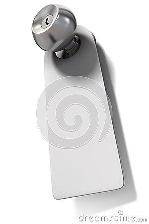 Door knob and label