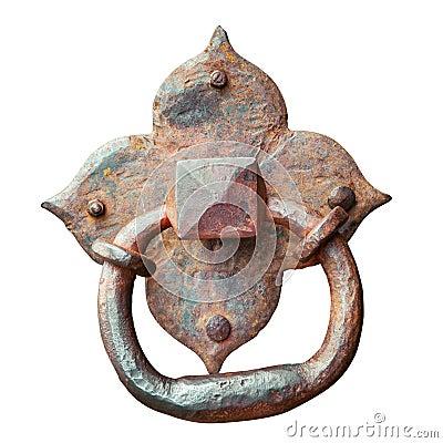 Free Door Knocker, Ancient Handle, Isolated Royalty Free Stock Photos - 42799798