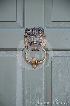 Door knocker - lion face