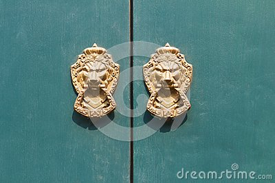 Door knocker lion head