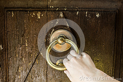 Door knocking stock photo image 48249369 for Door knocking sound