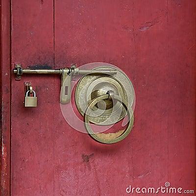 Free Door Lock Royalty Free Stock Photo - 13178585