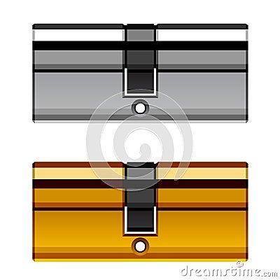Door lock cylinder cartridge