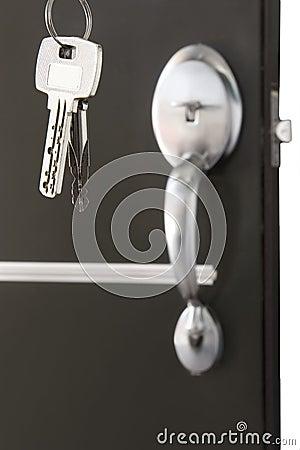 Door lock with keys