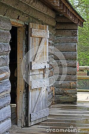 door of log cabin stock image cartoondealer com 9146101
