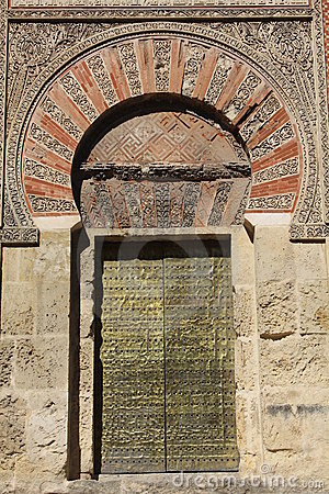 Door of the mosque in Cordoba