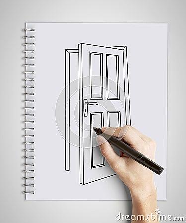 Door in  note pad
