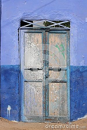 Door in a Nubian village