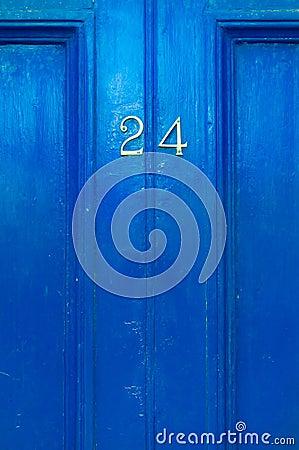 Free Door Numer 24 Stock Images - 41538914