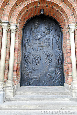 Free Door Of Roskilde Cathedral Stock Image - 20327911
