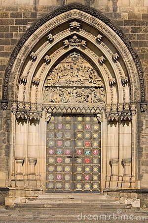 Free Door Of Vysehrad Cathedral Stock Images - 5259004