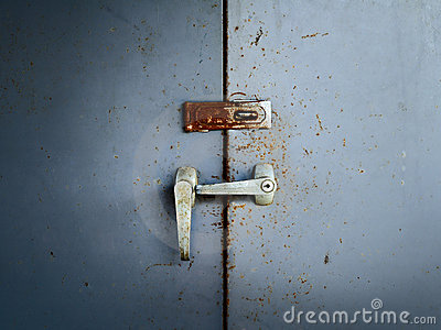 Door old rusty lockers