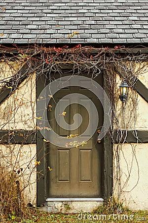 Door with overgrowth vertical