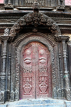 Door of the palace in Nepal