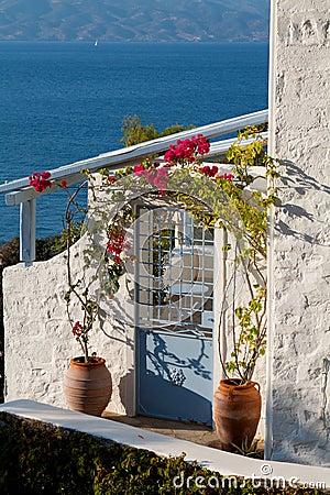 Door in Poros, Greece