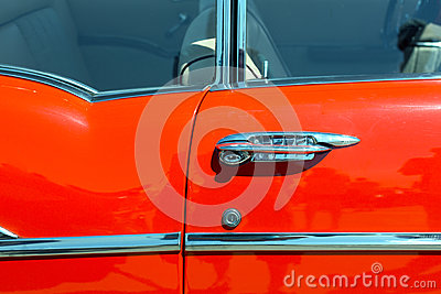 Door of retro car