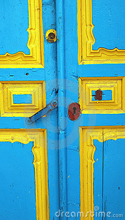 Door of a rustic village of Andalusia