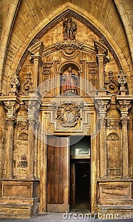 Door of Saint Vicent church