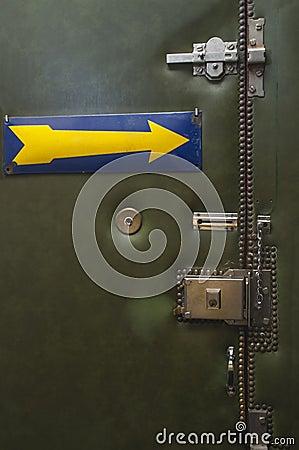 Door with several locks