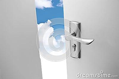 Door and sky