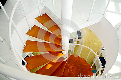 In-door Spiral Staircase.