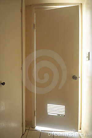 more similar stock images of door to bathroom is open with light