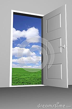 Free Door To Bright New World Stock Photo - 13211160