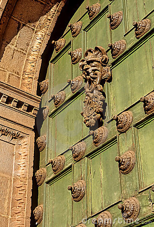 Door to church- Cusco, Peru