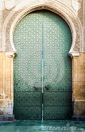 Free Door To Mezquita Of Cordoba In Andalucia, Spain. Royalty Free Stock Image - 26442536