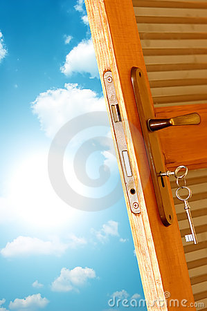 Free Door To New World. Stock Images - 4052044