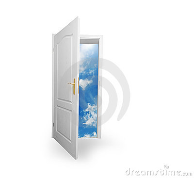 Free Door To New World. Hope, Success, New Way Concepts Stock Photography - 17183202