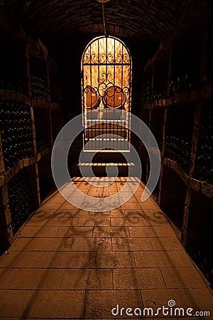 Door to wine cellar