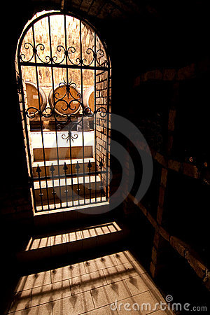 Door to wine cellar