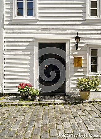 Door of a typical Stavanger Houses