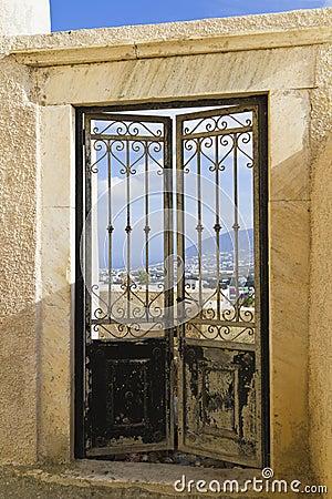 Door with a view