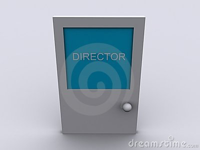 Door with word DIRECTOR
