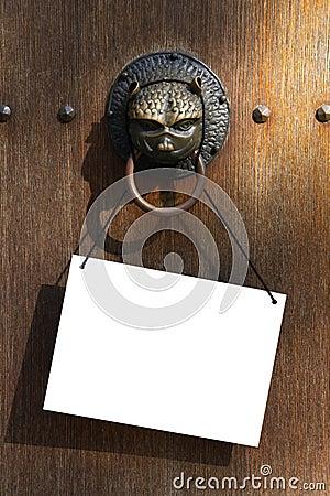 Doorknocker with plate