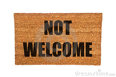Image result for Image of Not welcome