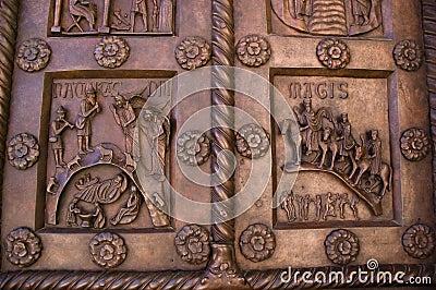 Doors of the Baptisterium in Pisa Italy