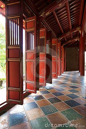 Doors In Forbidden City, Hue, Vietnam