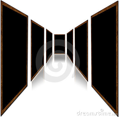 Doors isolated on white