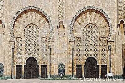 Doors of the mosque of Hassan II.