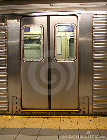 Free Doors Of New York Subway Car Stock Photography - 1883492