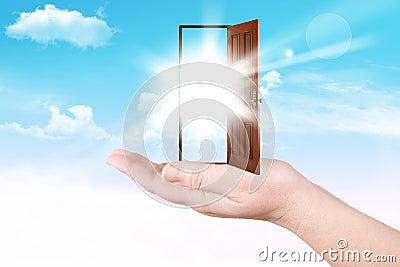 Doors on a palm